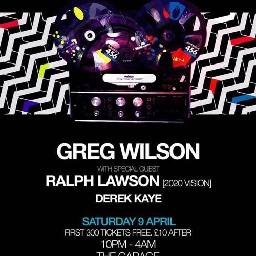 GREG WILSON @ THE GARAGE LIVERPOOL 09.04.16
