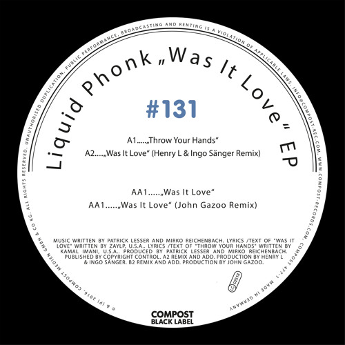 LIQUID PHONK | Compost Black Label #131 - Was It Love EP (CPT477-1)