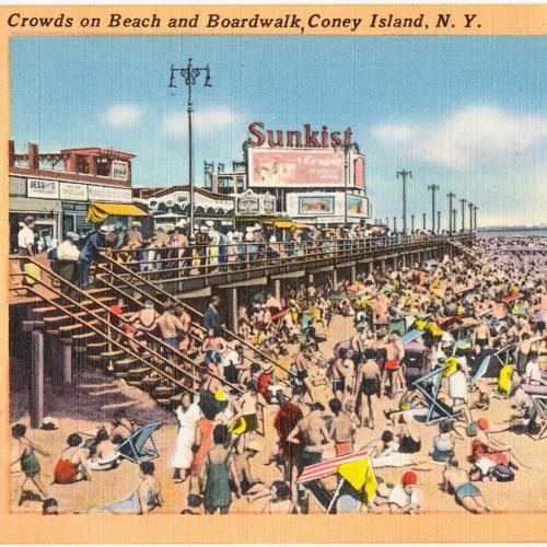 "Victor Packer performing his radio poem, ""Coney Island"""