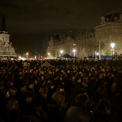 Juan Diosdado participant in the #NuitDebout (Rise up at night!) movement in France