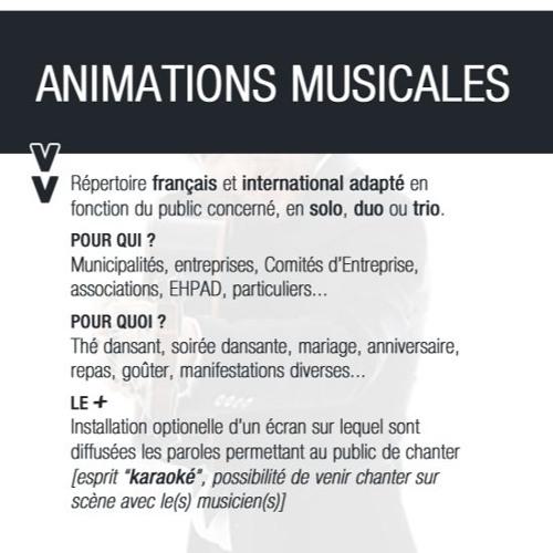 Type de prestation : ANIMATIONS MUSICALES