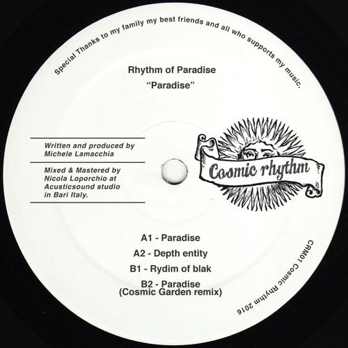 "CRM01 // Rhythm of Paradise - Paradise 12"""