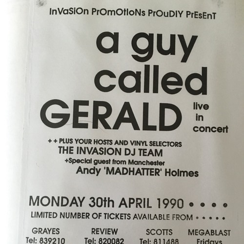 A Guy Called Gerald - Live Barrow 1990