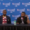 Game 4 Postgame: Kevin Love, LeBron James, Kyrie Irving - May 8, 2016