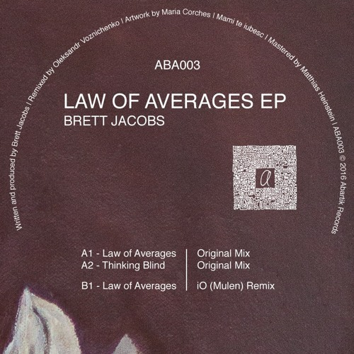 B1. Brett Jacobs - Law Of Averages (iO Mulen Remix)
