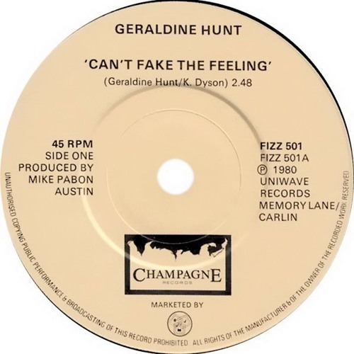 Geraldine Hunt - Can't Fake The Feeling (Dj ''S'' Remix)
