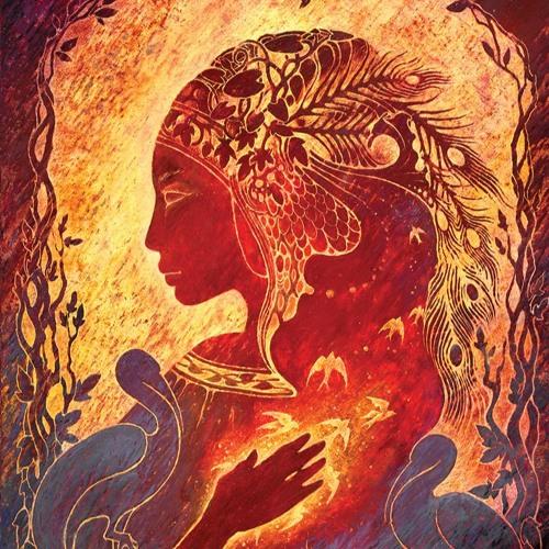 Burning Woman - Invitation