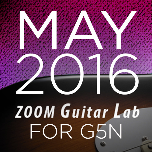 Zoom G5n Patches: May 2016 Release
