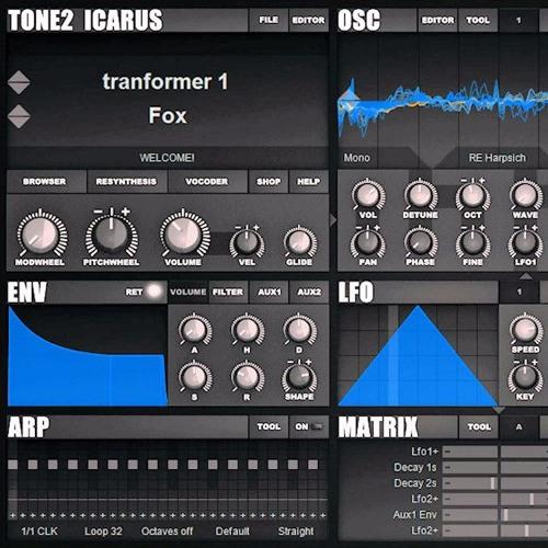 Tone2 Icarus demo work