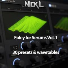 FREE Foley Serum Presets & Wavetables