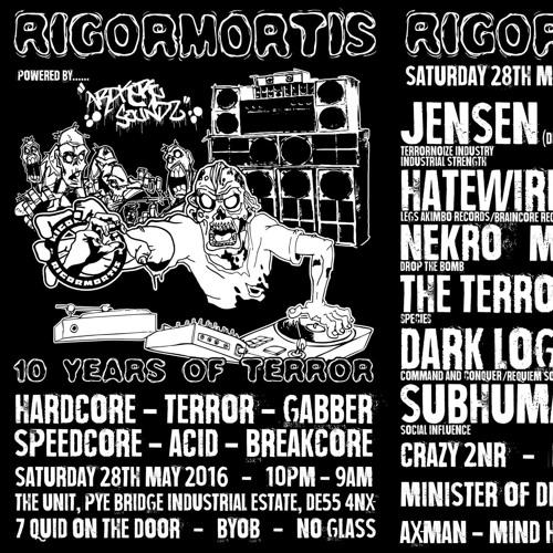 NEKRO - Rigormortis Anniversary warm up mix