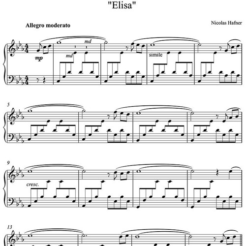 Elisa - Relaxing Piano Music By Nicolas Hafner