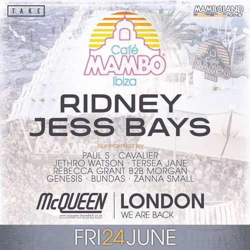 Ridney - Promo Mix For Cafe Mambo @McQueen, London 24.06.16