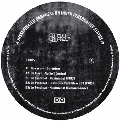 CY005 - A2 - JK Flesh - No Self Control - OUT NOW