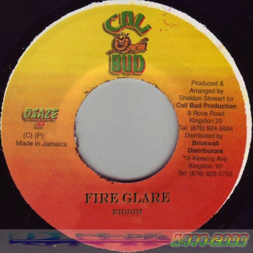 Fire Glare Riddim Instrumental 1999 & 2000 (Jazzwad) by