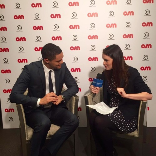 Michelle Loxton interviewing Trevor Noah