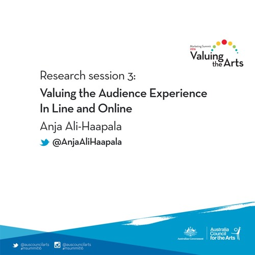 Research session 3: Valuing the audience-artist relationship