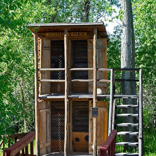 Two-Story Outhouses Were Common In Snowy Mountain Towns