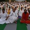 Swami Ramdev And Union Minister Venkaiah Naidu Practice Yog, Rajpath
