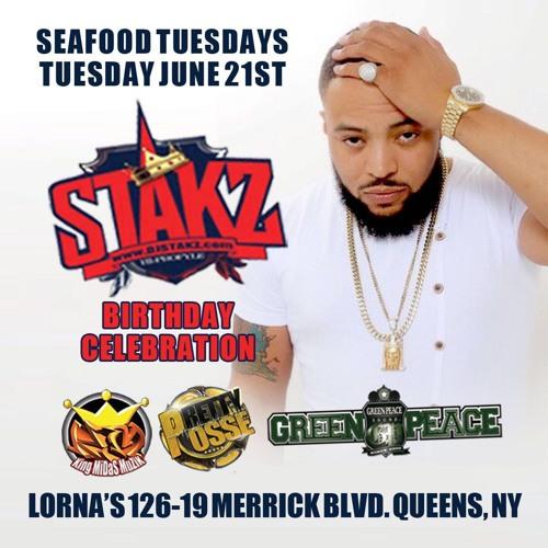 SEAFOOD TUESDAY 6.21.16 DJ STAKZ BDAY BASH @DJPOLISHXL @NOAHPOWA