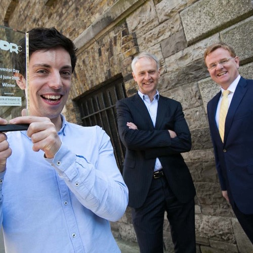 Wia founder Conall Laverty and NDRC CEO Ben Hurley
