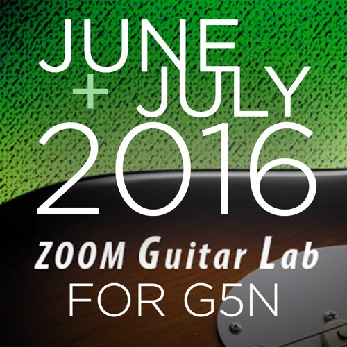 Zoom G5n Patches: June+July 2016 Release