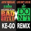 Justin Timberlake × Ed Sheehan - Love Don't Love Me × Don't (KE-Go Remix)
