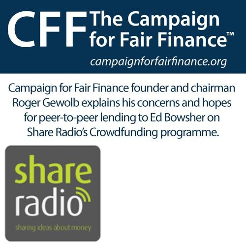 Peer to Peer lending on Share Radio