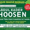 Mufti Abdul Kader Hoosen Of CII Jumah Khutba 22-07-2016