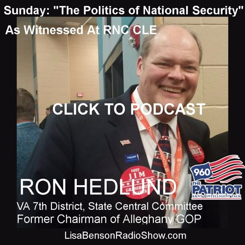 """""""Ron Hedlund: The Politics of National Security"""""""