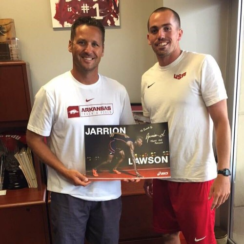 001 Travis Geopfert - Arkansas Track & Field - Coach of Jarrion Lawson
