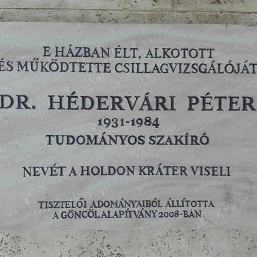 XX. század jeles csillagászai és csillagászati ismeretterjesztői. Harmadik rész. Dr. Hédervári Péter