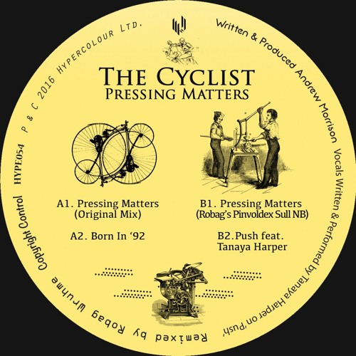 "The Cyclist ""Pressing Matters"" - Boiler Room Debuts"