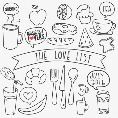 The Love List -- Top 20 Tracks July 2016 [MI4L.com]