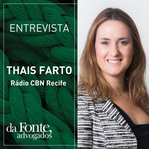 Entrevista Thais Menezes - Rádio CBN Recife - 25-07-2016
