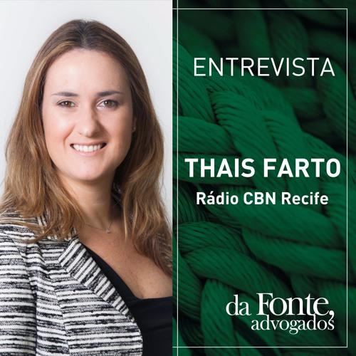Entrevista Thais Menezes - Rádio CBN Recife