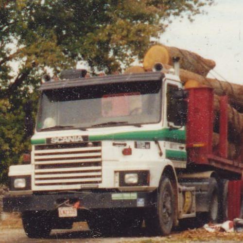 Scania Hit! I-40 North Carolina 1989! by Mark Elvidge & his A.I. Robot