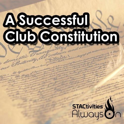 A Successful Club Constitution