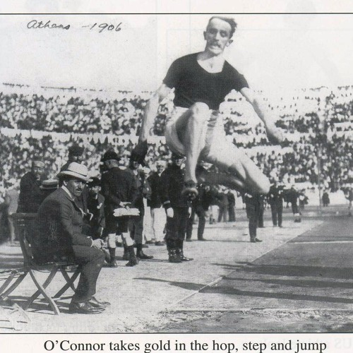 Aug 5th 1901 - Peter O'Connor sets first world  Long Jump record