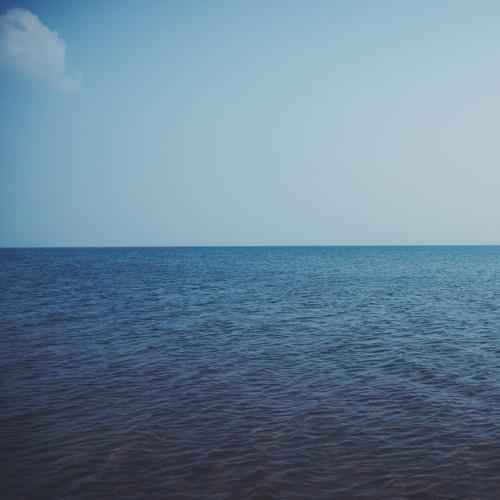 Lake Belyo, calm waves