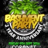 BASHMENT PARTY - 3rd Anniversary: Fri 9th Sept - MEGA MIX (Mixed by DJ Nate, Younger Melody, Coolie)