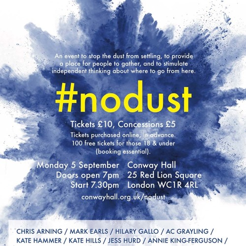 #NoDust on #Brexit 3-min trailer with Jim Walsh & Andra Sonea