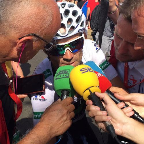 Alejandro Valverde, tras la 8ª etapa de la Vuelta