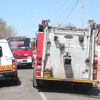 Neighbour expresses her disgust with fire truck's late arrival
