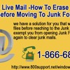 How to erase junk mails before moving to Junk Folder