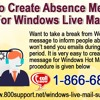 How To Create Absence Message For Windows Live Mail