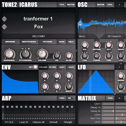 Tone2 Icarus Electronix soundset demo work
