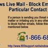 Windows Live Mail - block emails for a particular contact