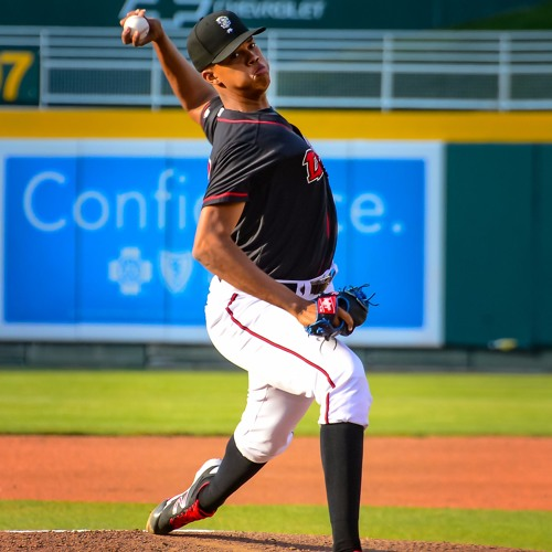 Lugnuts pitcher Angel Perdomo, August 16th