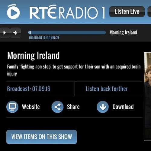 Morning Ireland #2 on NeuroRehab and Pádraig Schaler on 07 Sep 2016.